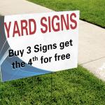 Yard Sign Promotion